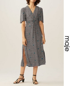 마쥬 2018ss PRINTED DRESS WITH FLORAL PRINT(가격 문의 주세요)