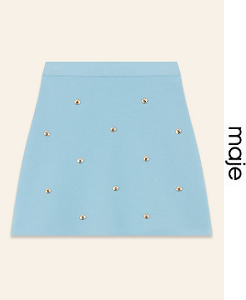 마쥬 2018ss SKIRT WITH EMBROIDERED BEES(가격 문의 주세요)