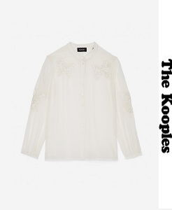 더 쿠플스 2018ss CREPE SHIRT WITH JEWEL EMBROIDERY ON THE CHEST AND SLEEVES(할인가 문의 주세요)