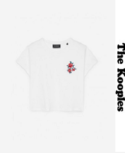 더 쿠플스 2018ss T-SHIRT WITH FLOWER EMBROIDERY ON THE CHEST(할인가 문의 주세요)