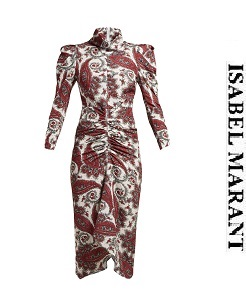 이자벨마랑 2018fw Tizy paisley-print silk high-neck dress     (가격 문의 주세요)