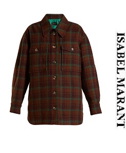 이자벨마랑 2018fw  Harvey oversized checked wool jacket     (가격 문의 주세요)