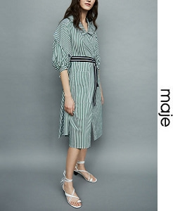 마쥬 2018ss DECONSTRUCTED STRIPED SHIRT DRESS(가격 문의 주세요)