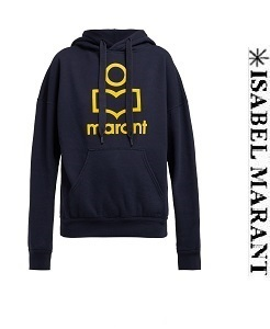 이자벨마랑 19ss  Mansel logo-front hooded-sweatshirt